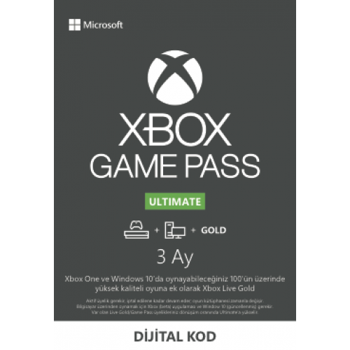 Xbox Game Pass Ult - 3 Ay
